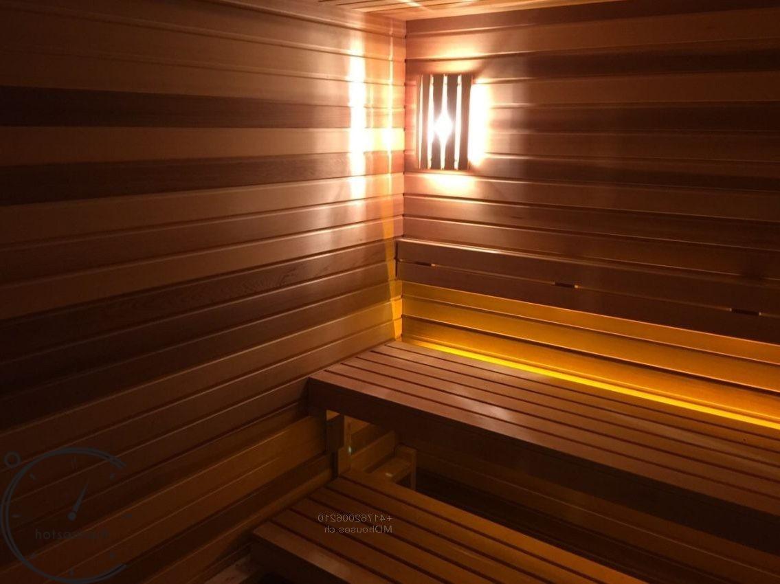 Отделка парилки sauna instaliation