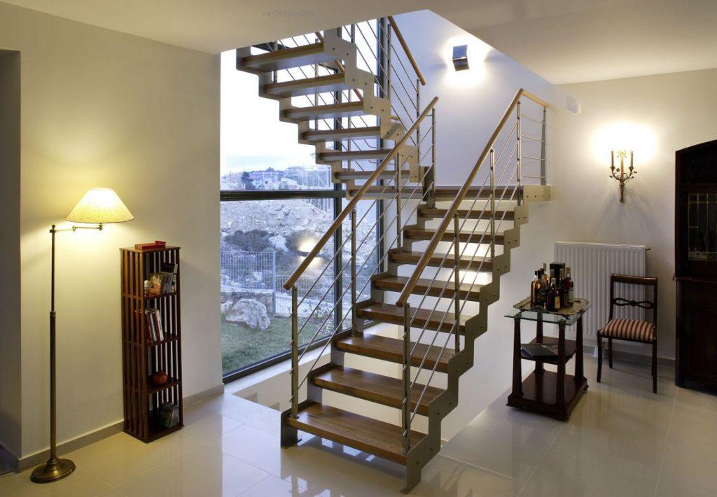 Welding works, installing stair railings