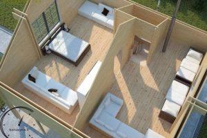 logsauna for sale summer house individuelle Hus Konstruktion (10)