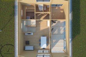 logsauna for sale summer house individuelle Hus Konstruktion (2)