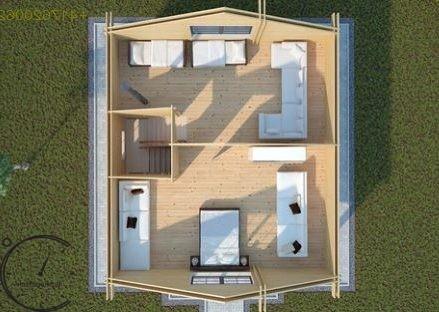 logsauna for sale summer house individuelle Hus Konstruktion (3)
