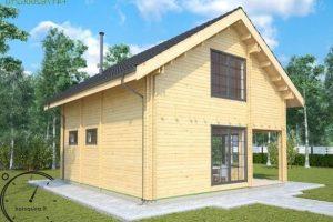 logsauna for sale summer house individuelle Hus Konstruktion (4)