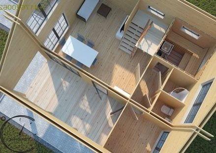 logsauna for sale summer house individuelle Hus Konstruktion (5)