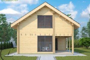 logsauna for sale summer house individuelle Hus Konstruktion (8)
