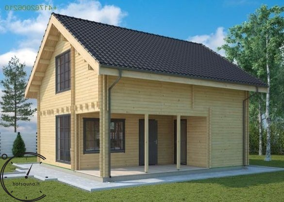 logsauna for sale summer house individuelle Hus Konstruktion (9)