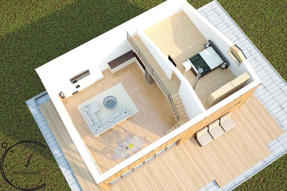 sauna hugge mini pirtis sauna lauko hotsauna (7)