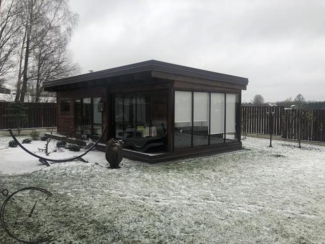 sauna modern papildoma istiklinta terasa 4 metru sauna for sale (6)